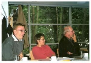 Alexander Opitz, Angela Heinze und Helge Majer beim Weimarer Kolloquium September 2002
