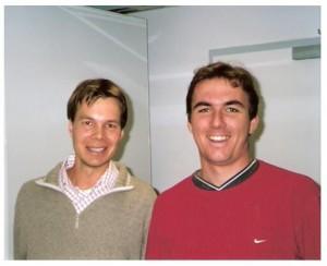 Axel Schaffer und Jan Minx beim Weimarer Kolloquium Oktober 2004